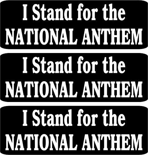 3 - I STAND FOR THE NATIONAL ANTHEM Helmet/Hard Hat/Motorcycle Sticker (Motorcycle Helmet Sticker)
