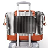 trolley bag makeup - BLUBOON Weekender Overnight Bag Carry-on Shoulder Tote Travel Duffel Bag in Trolley Handle Luggage