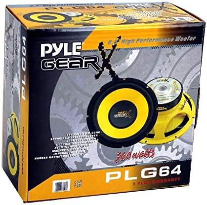 Pyle PLG64 6.5 300 Watt Car Mid Bass//Midrange Subwoofers Sub Power Speakers 2