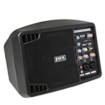 LyxPro SPA5.5 Small PA Speaker System Powerful Compact Active Speaker Monitor Class-D Amplifier amp 3 Channel Mixer 3 Band EQ