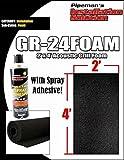 DJ Speaker Woofer Cabinet Grill BLACK Foam 2' x 4' x 3/8'' Thick w/Spray Glue