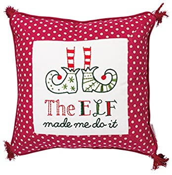 Primitives by Kathy Holiday The The Elf Made Me Do It Throw Pillow,
