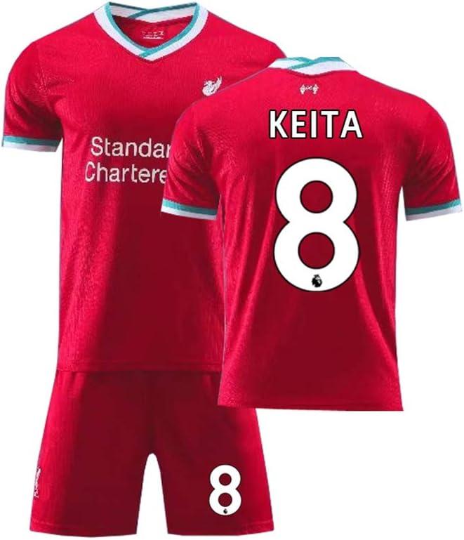 LCHENX-2020-2021 Liverpool Football Naby Keïta # 8 Conjuntos de Camisetas de Aficionado Al Fútbol para Hombres Y Niños Ropa Deportiva de Entrenamiento Transpirable
