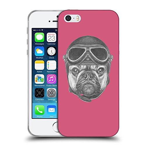 GoGoMobile Coque de Protection TPU Silicone Case pour // Q05250614 Casque bulldog Rougir // Apple iPhone 5 5S 5G SE
