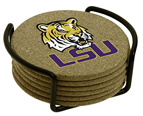 (Thirstystone Louisiana State University with Holder Included Cork Gift Set)