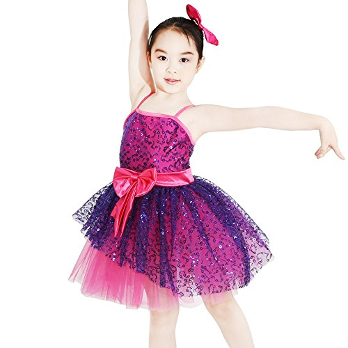 MiDee Dance Costume Latin Dress For Women Sweetheart Camisole Sequins (XSC, Multi (Dance Canes For Costumes)