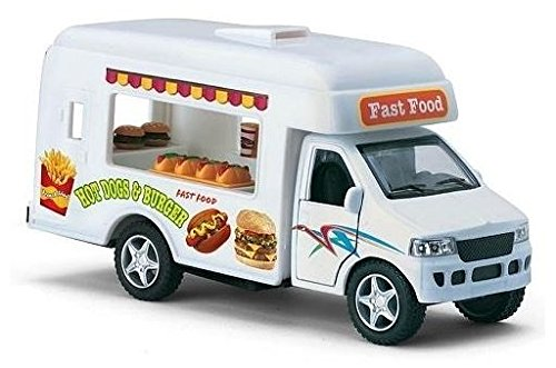 Mobile Fast Food Truck Hot Dogs & Burgers 1:43 - Mobile Hot Sites