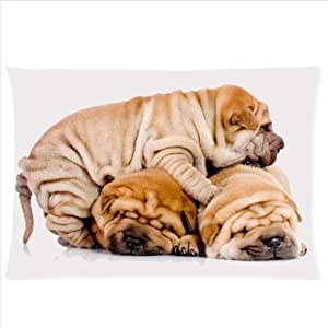 diy phone caseAnimals Dogs Three Shar Pei Dogs Are Sleeping On Each Other Design,Shar Pei Dog Pillowcase,One Side Pillowcase Pillow Cover 20x30 inchesdiy phone case