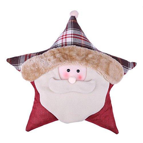 Whitelotous Christmas Gift Showcase Snowman Santa Claus Hugging Pillow (Santa (Hugging Snowman)