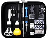 Watch Repair Tool, Portable Wrist Watch Repair Tool Kit Set Professional Spring Bar Tool Set Watch Band Link Pin Tool Set Opener Remover with Carrying Case (112 PCS)