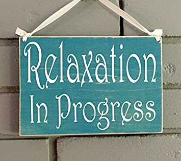 Amazon Relaxation In Progress 8x6 Choose Color Rustic