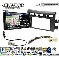 Volunteer Audio Kenwood DNX874S Double Din Radio Install Kit with GPS Navigation Apple CarPlay Android Auto Fits 2007-2009 Kia Amanti