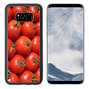 Luxlady Samsung Galaxy S8 Plus S8+ Aluminum Backplate Bumper Snap Case IMAGE ID 244175 ripe red tomatoes at the farmers market