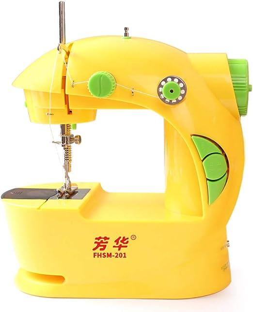 garnish Máquina de Coser eléctrica Mini portátil de múltiples Funciones para el pie Máquina de Coser de 2 ...