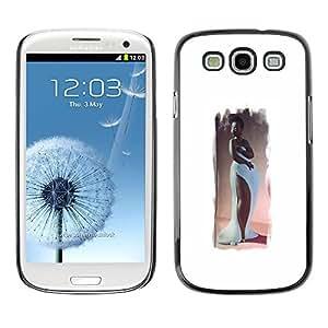 All Phone Most Case / Hard PC Metal piece Shell Slim Cover Protective Case Carcasa Funda Caso de protección para Samsung Galaxy S3 I9300 Hourglass Figure Woman Long Gown Art
