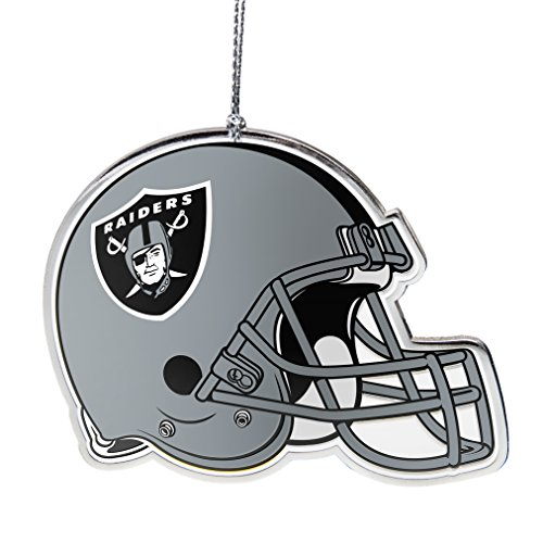 - NFL Oakland Raiders Flat Metal Helmet Ornament