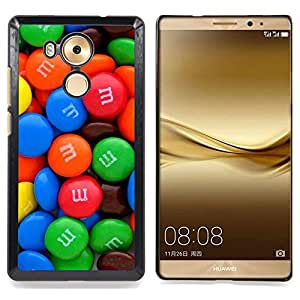 For Huawei Mate 8 - Candy Chocolate Blue Red Sweets /Modelo de la piel protectora de la cubierta del caso/ - Super Marley Shop -