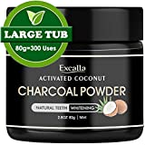 Activated Charcoal Teeth Whitening Powder - Natural Coconut Charcoal Toothpaste for Man/Women Raw Organic Food Grade 2.8oz/80g