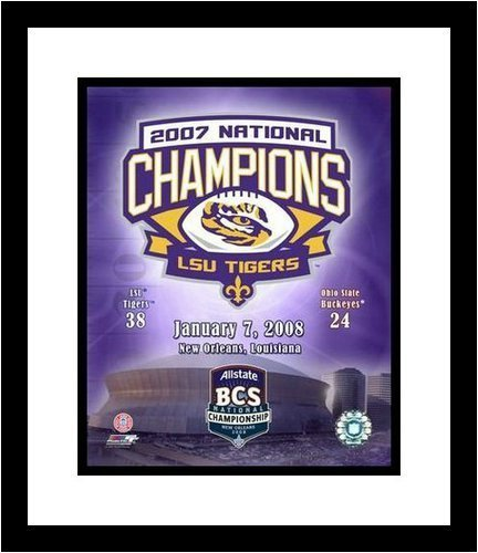 LSU Tigers - 2007 BCS Champions - Framed Milestone Collage ()
