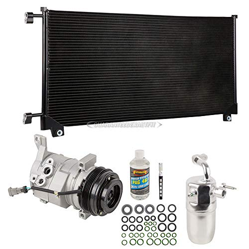 A/C Kit w/AC Compressor Condenser Drier For Chevy Silverado GMC Sierra V8 Gas 2000 2001 2002 2003 2004 2005 - BuyAutoParts 60-82439CK New