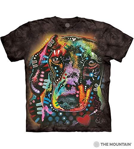- The Mountain Brilliant Dachshund Adult T-Shirt, Black, Large