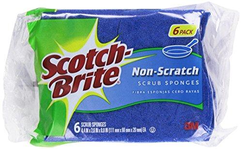 Scotch-Brite 6-Piece Multi Purpose Scrub Sponge Pack (Scrub Wave Sponge)