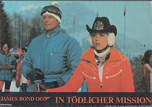 For Your Eyes Only In Todlicher Mission German mini-poster 1981 ski outfits ()