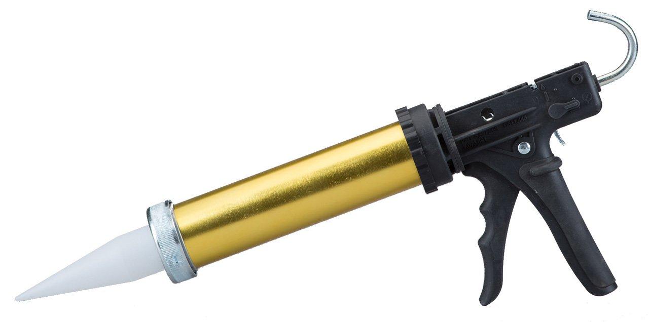 Dripless BL6500 Industrial Grade Aluminum Barrel Bulk Caulking Gun, 15 oz. Bulk Capacity, 18:1 Thrust Ratio