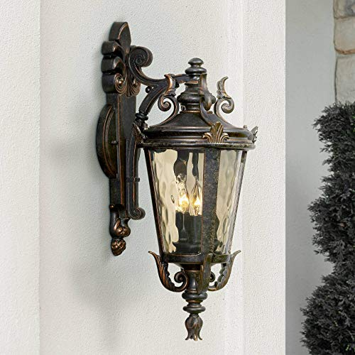 Casa Marseille Outdoor Light Fixture Bronze Scroll 21 3/4