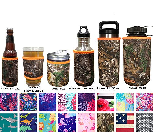 KOVERZ XL Neoprene 32-40 oz Water Bottle Insulator Cooler Coolie - Officially Licensed REALTREE XTRA Camouflage