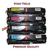 4PK New Compatible TONER4U® Replace NON-OEM for Canon 131 Laser Toner Cartridge Color Combo (BK, C, Y, M), Canon ImageClass LBP7110Cw MF624Cw MF628Cw MF8280Cw