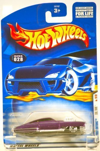 Wheels 2000 Magazine (2000 - Mattel / Hot Wheels - Evil Twin (Purple & Chrome) - 2001 First Editions #16 of 36 Cars - Collector #028 - MOC - Limited Edition - Collectible)