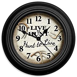 Reflective Art Live to Hunt 10 Classic Clock
