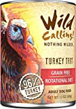 Wild Calling Canned Dog Food - Turkey Trot 96% Turkey - 13 oz - 12 ct by Wild Calling!