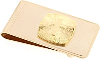 product image for JJ Weston Religious Cross Money Clip. Made in the USA.