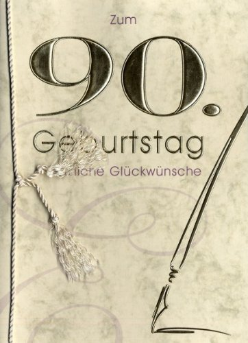 Horn Grußkarte Urkunde Zum 90 Geburtstag Herzliche Glückwünsche A5
