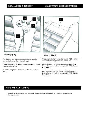 "Interior Shutter Kit 2 1/4"" Louver, Plantation Style (Paint Finish White, 23-25"" W x 36"" L)"