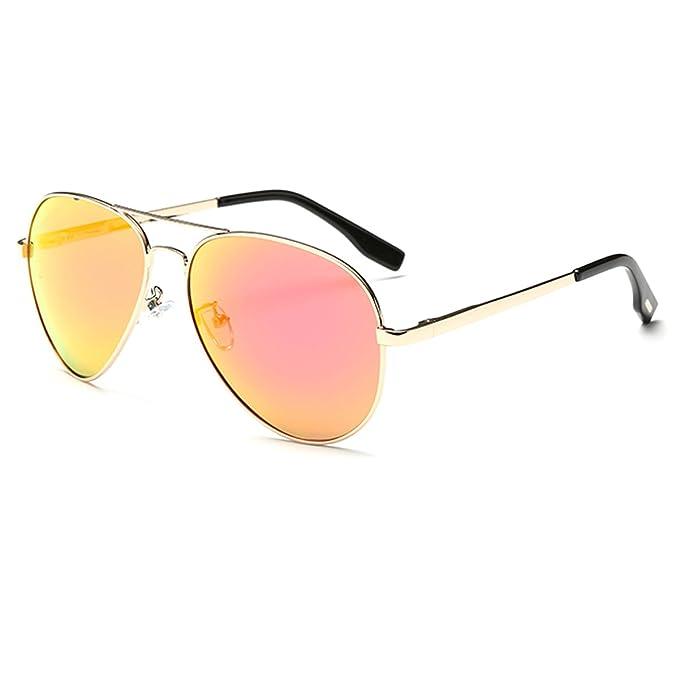 a3adb9ce8d YUFENRA Lente Antirreflejante Completo Aviador UV400 Gafas de Sol con  Diseño de Moda Retro Para Hombre
