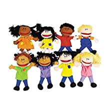 Children Hand Puppets - School Learning Aides - 8 per Pack