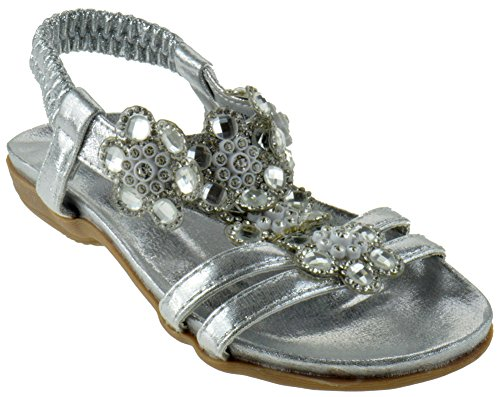Little Girls Sandals (Lucita Crab Little Girls Gladiator Floral Rhinestone Comfort Flat Sandals)