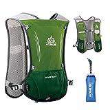 TRIWONDER Hydration Pack Backpack 5L Marathoner Running Race Hydration Vest (Army Green)