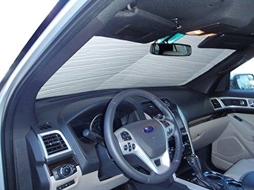 HeatShield The Original Auto Sunshade, Custom-Fit for Ford Explorer SUV w/o Sensor 2011-2019, Silver Series ()