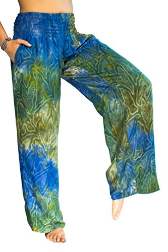 PIYOGA Women's Boutique Lounge and Yoga Pants, Elastic Waistband and Flare Bottom (One Size fits US W Size 0-12) - Mystical ()