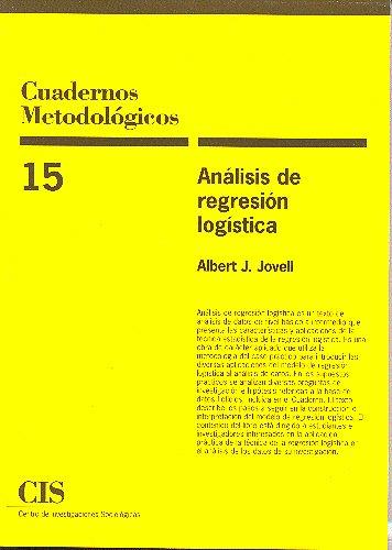 Descargar Libro Análisis De Regresión Logística Albert J. Jovell