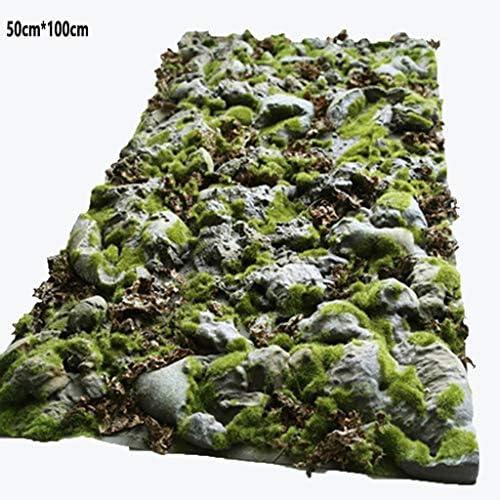 人工的な泥炭のカーペットのコケ、0.5m x 1m庭の屋内装飾のシミュレーションの石のコケ (Size : 3pack)