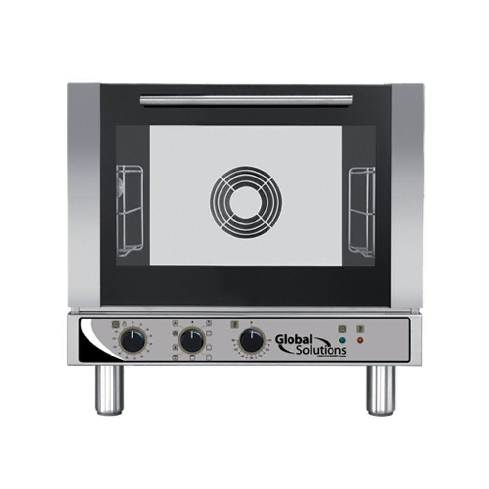 208-240V Global Solutions by Nemco GS1115 Countertop Electric Half Size Convection Oven with Broiler 3 Half Size Pan Capacity