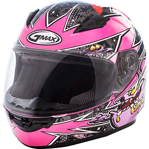 (GMAX Unisex-Adult Style G7496590 TC-22 Gm49Y Full Face Street Helmet Alien Pink/Purple Youth s Small)