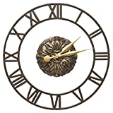 Whitehall Cambridge Floating Ring 21-In Indoor Outdoor Wall Clock (French Bronze)