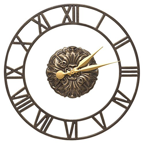 - Whitehall Cambridge Floating Ring 21-in Indoor Outdoor Wall Clock (French Bronze)