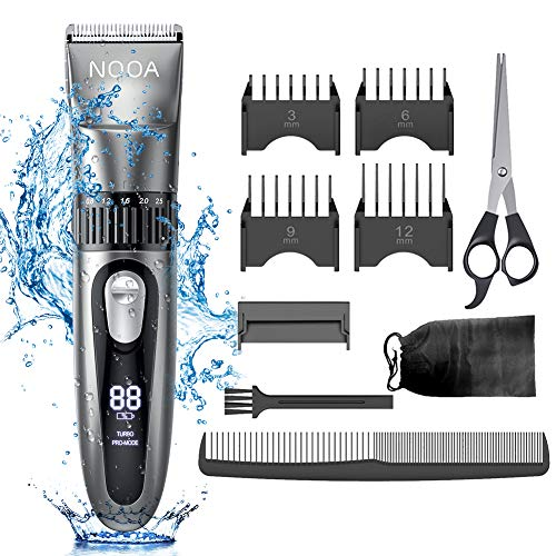 NOOA Cordless Hair Clippers for Men Hair Trimmer Haircut Kit, Rechargeable Mens Beard Trimmer Complete Hair Cutting Kit for Kids and Adults